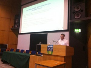 Solicitor Kevin Moore addressing DCU Medical Device Conference